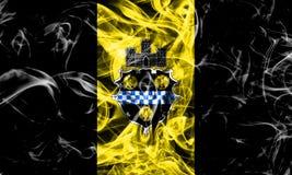 De vlag van de de stadsrook van Pittsburgh, de Staat van Pennsylvania, Verenigde Staten van Royalty-vrije Stock Afbeelding