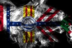 De vlag van de de stadsrook van Tamper, de Staat van Florida, de Verenigde Staten van Amerika royalty-vrije illustratie