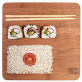 De vlag van sushijapan Stock Fotografie