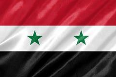 De vlag van Syrië stock afbeeldingen