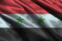 De vlag van Syrië, 3D symbool van de de vlag 3D illustratie van Syrië nationale Stock Foto's