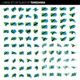 De vlag van Tanzania, vectorillustratie Stock Fotografie
