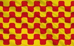 De vlag van Tarragona is het kapitaal van de Tarragona provincie van ea vector illustratie