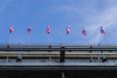 De vlag van Thailand Royalty-vrije Stock Afbeeldingen