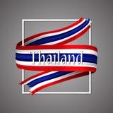 De Vlag van Thailand Officiële nationale kleuren 3d realistisch de streeplint van Thailand ` s De vectorachtergrond van het picto stock illustratie
