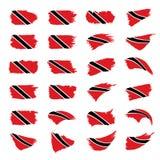 De vlag van Trinidad en van Tobago, vectorillustratie stock illustratie
