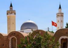 De vlag van Tunesië Royalty-vrije Stock Afbeeldingen