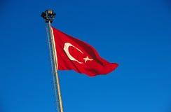 De vlag van Turkije Stock Foto