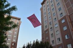 De Vlag van Turkije royalty-vrije stock foto's
