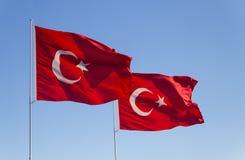 De Vlag van Turkije Royalty-vrije Stock Afbeeldingen