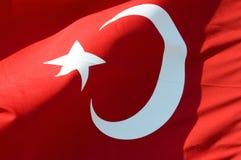 De vlag van Turkije Stock Afbeelding