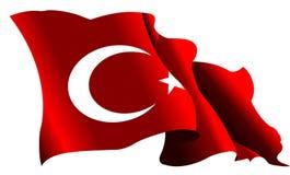 De vlag van Turkije van de schaduw
