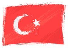 De vlag van Turkije van Grunge Stock Afbeeldingen
