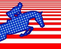 De vlag van U S van de ruiter Royalty-vrije Stock Afbeeldingen