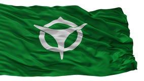De Vlag van de Ujistad, de Prefectuur van Japan, Kyoto, op Witte Achtergrond wordt geïsoleerd die royalty-vrije illustratie