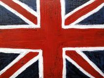 De vlag van Union Jack op metaalachtergrond Stock Foto's