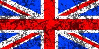 De vlag van Union Jack van Grunge Royalty-vrije Stock Foto's