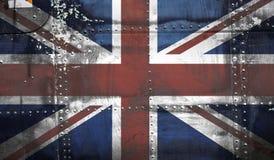 De Vlag van Union Jack van Grunge Royalty-vrije Stock Afbeeldingen