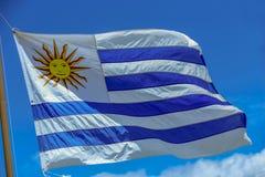 De Vlag van Uruguay stock fotografie