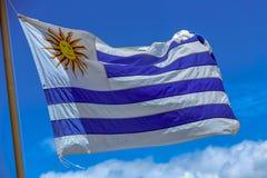 De Vlag van Uruguay stock afbeelding