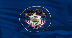 De vlag van Utah op zijdetextuur, de Verenigde Staten van Amerika 3D illustratie van uitstekende kwaliteit vector illustratie