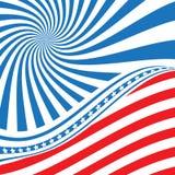 De vlag van de V Het nationale symbool van de Verenigde Staten van Amerika Vector illustratie Vlag van de V Amerikaans symbool De stock illustratie