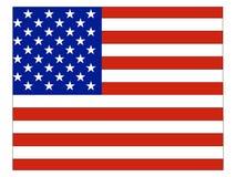 De Vlag van de V.S. die met de Kaart van de Staat van de V.S. van Colorado wordt gecombineerd stock illustratie