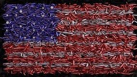 De Vlag van de V.S. die uit kogels wordt gevormd stock illustratie