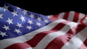 De vlag van de V.S. in langzame motie stock videobeelden