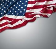 De vlag van de V.S. op grijs royalty-vrije stock fotografie