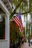 De vlag van de V.S. in Smithfield van de binnenstad Royalty-vrije Stock Foto