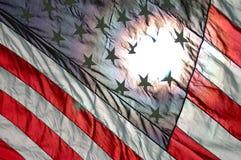 De vlag van Verenigde Staten Stock Foto