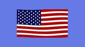 De vlag van Verenigde Staten stock footage