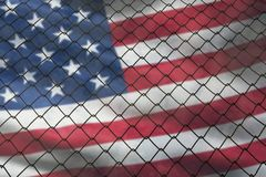 De vlag van de Verenigde Staten van Amerika stock foto's