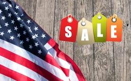 De vlag van Verenigde Staten Amerikaans symbool De achtergrond van de onafhankelijkheid Day royalty-vrije stock foto