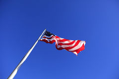 De Vlag van Verenigde Staten bij Schoorsteenrots Stock Afbeelding
