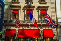 De vlag van de Verenigde Staten, Frankrijk, het Verenigd Koninkrijk royalty-vrije stock foto