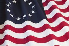 De vlag van Verenigde Staten met dertien sterren stock foto