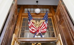 De Vlag van Verenigde Staten van Amerika met Eagle royalty-vrije stock foto's