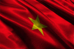 De vlag van Vietnam, symbool van de de vlag 3D illustratie van Vietnam het nationale Royalty-vrije Stock Afbeelding
