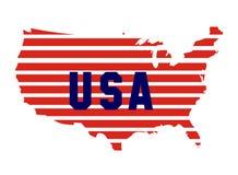 De vlag van de de wereldkaart van Amerika Royalty-vrije Stock Afbeeldingen