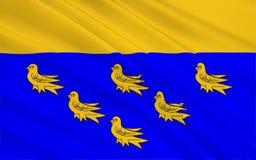 De vlag van West-Sussex is een provincie, Engeland stock afbeeldingen