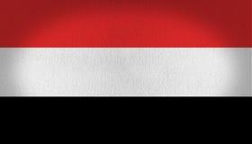 De vlag van Yemen Stock Afbeeldingen