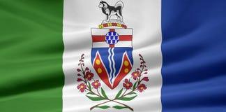 De Vlag van Yukon stock illustratie
