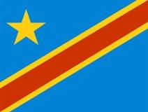 De Vlag van Zaïre Royalty-vrije Stock Afbeelding