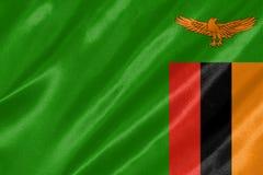 De vlag van Zambia stock illustratie