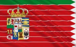 De vlag van Zamora is een provincie van westelijk Spanje vector illustratie