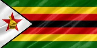 De vlag van Zimbabwe stock foto's