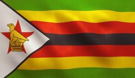 De vlag van Zimbabwe Royalty-vrije Stock Afbeelding