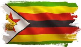 De vlag van Zimbabwe Stock Foto